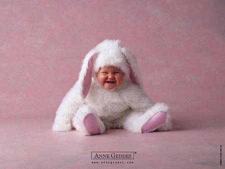 Bebe coelho sorrindo